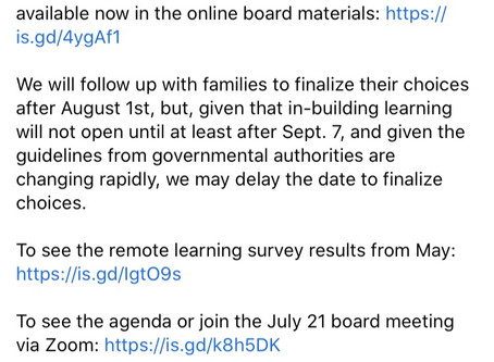Eanes ISD July 21 Board Meeting-Fall Options R2R Ready-To-Re-Engage