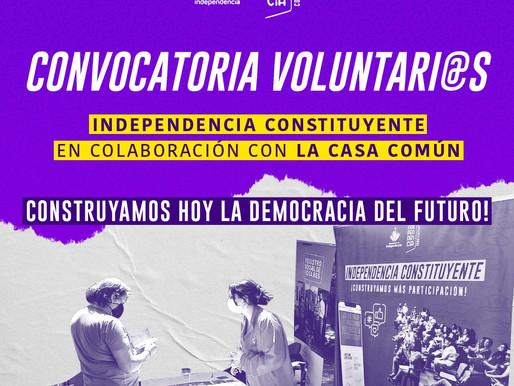 Convocatoria a Voluntari@s para el Proceso Constituyente