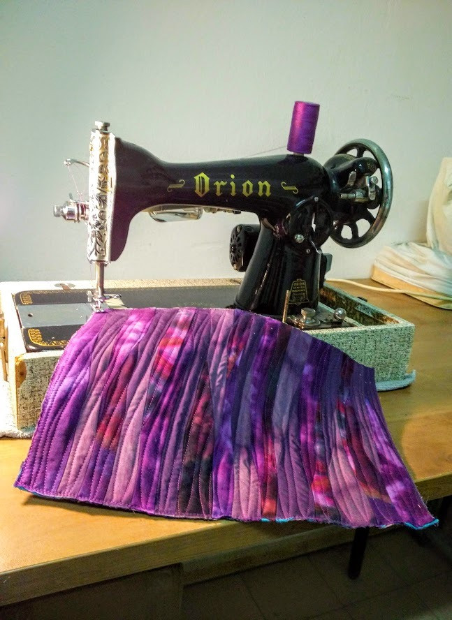 Purple mini quilt