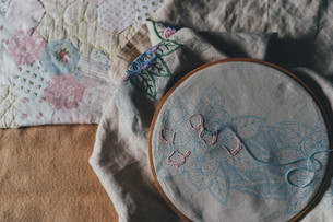 DIY embroidered pillow cases