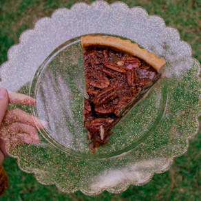 Chocolate Laced Pecan Pie