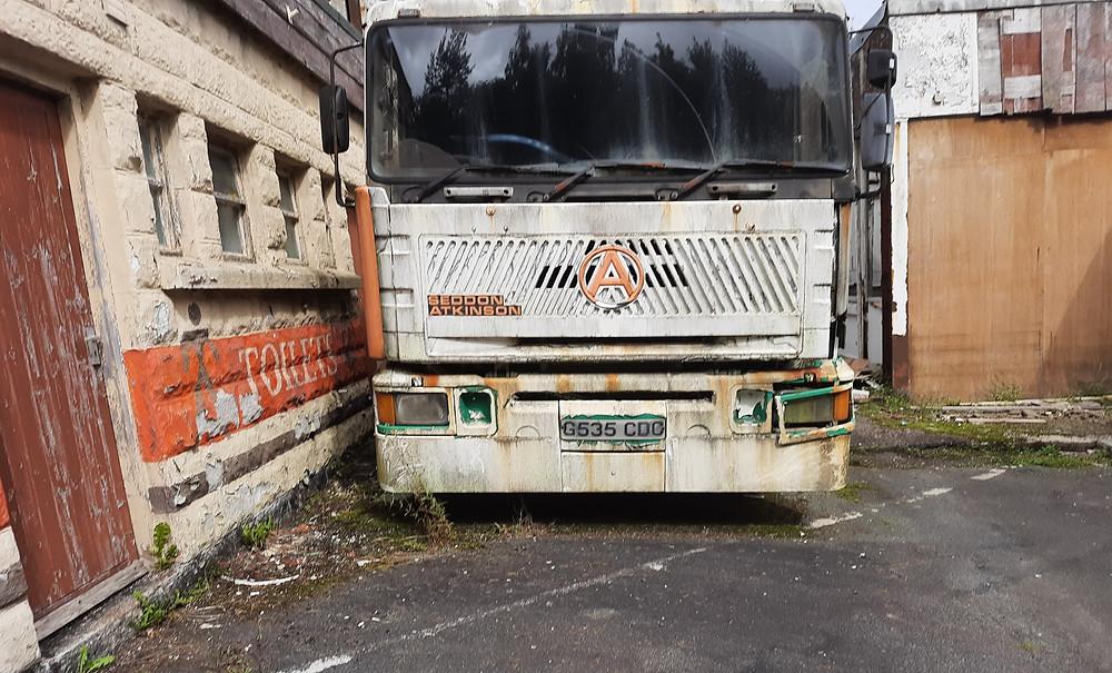 Bus Graveyard, South Wales, UK