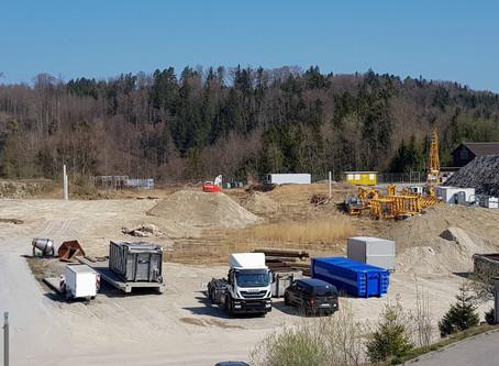Baustart Betriebsgebäude in Flawil