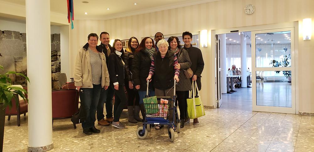 Family Celebrating Mutti's 91st Birthday in Germany
