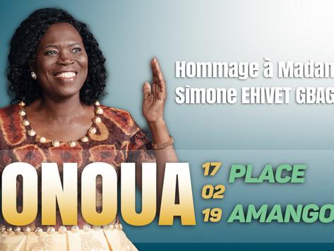 CÉRÉMONIE D'HOMMAGE A MADAME SIMONE EHIVET GBAGBO ORGANISÉE PAR LA RÉGION DU SUD-COMOÉ