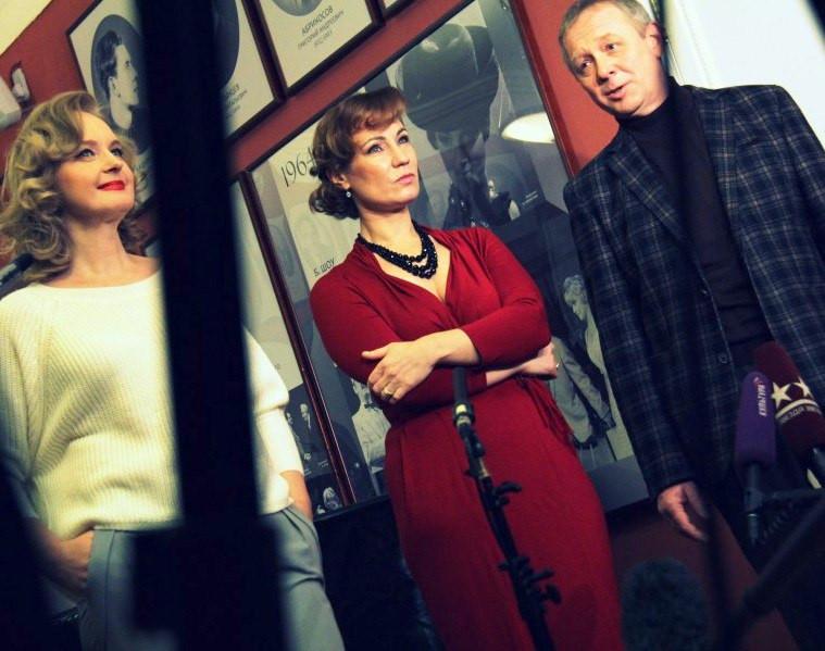 Ольга Тумайкина, Андрей Зарецкий и Елена Сотникова в спектакле «Игры одиноких»
