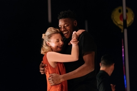 Victor Oshin (Othello) and Kitty Archer (Desdemona)