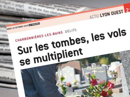 Délits en série au cimetière de Charbonnières