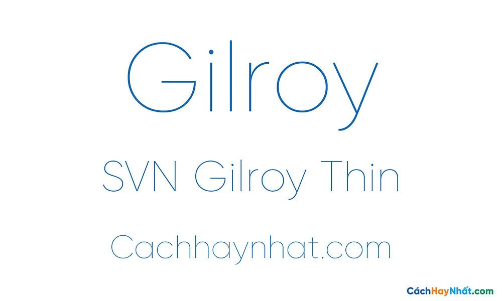SVN Gilroy Thin