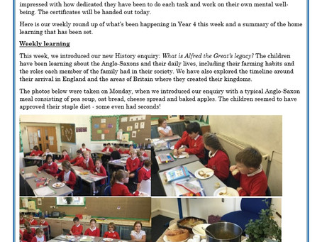 Year 4 Weekly Letter 06/11/20