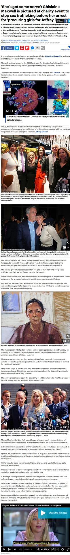Epstien, Ghislain Maxwell, Charity, scandal,