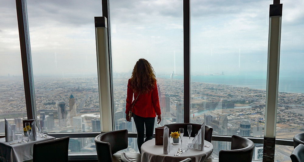 The view from At.Mosphere Burj Khalifa
