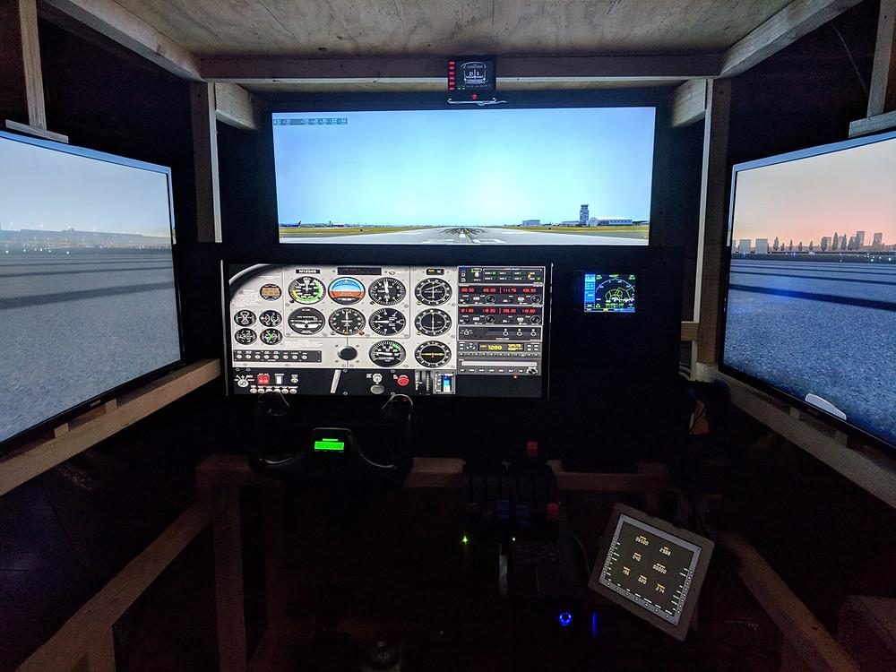 Interior shot of my garage flight simulator