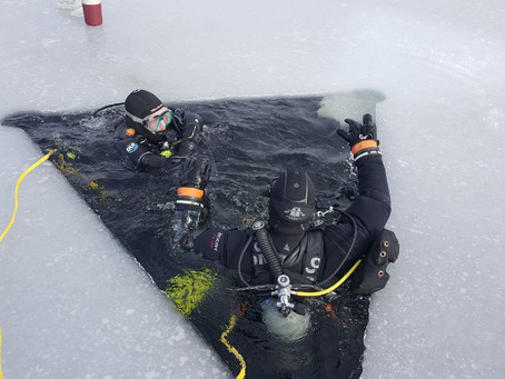 1st Ice Dive of the Year Lake Beulah 2/9/20