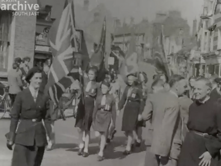 1947: Guides & Scouts on parade in Cuckfield and Haywards Heath