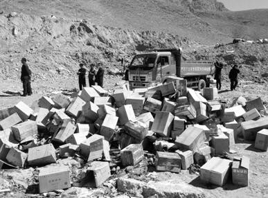 西藏拉萨:62.5万元假冒伪劣商品集中销毁