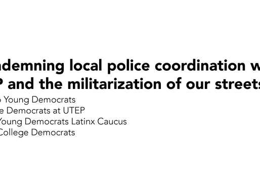 Condemning local police coordination with CBP and the militarization of our streets