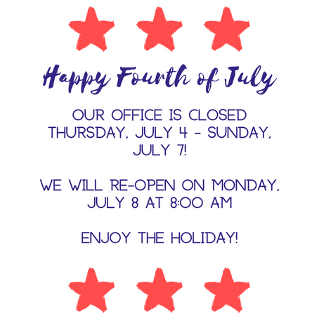 Fourth of July Week Hours