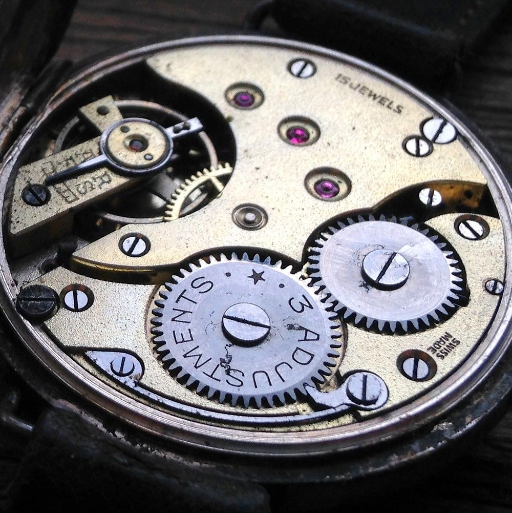 Helvetia 'Trench Watch' Movement Possible 'Aeroplane' Watch
