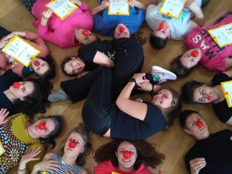 Закончился первый блок школы больничных клоунов
