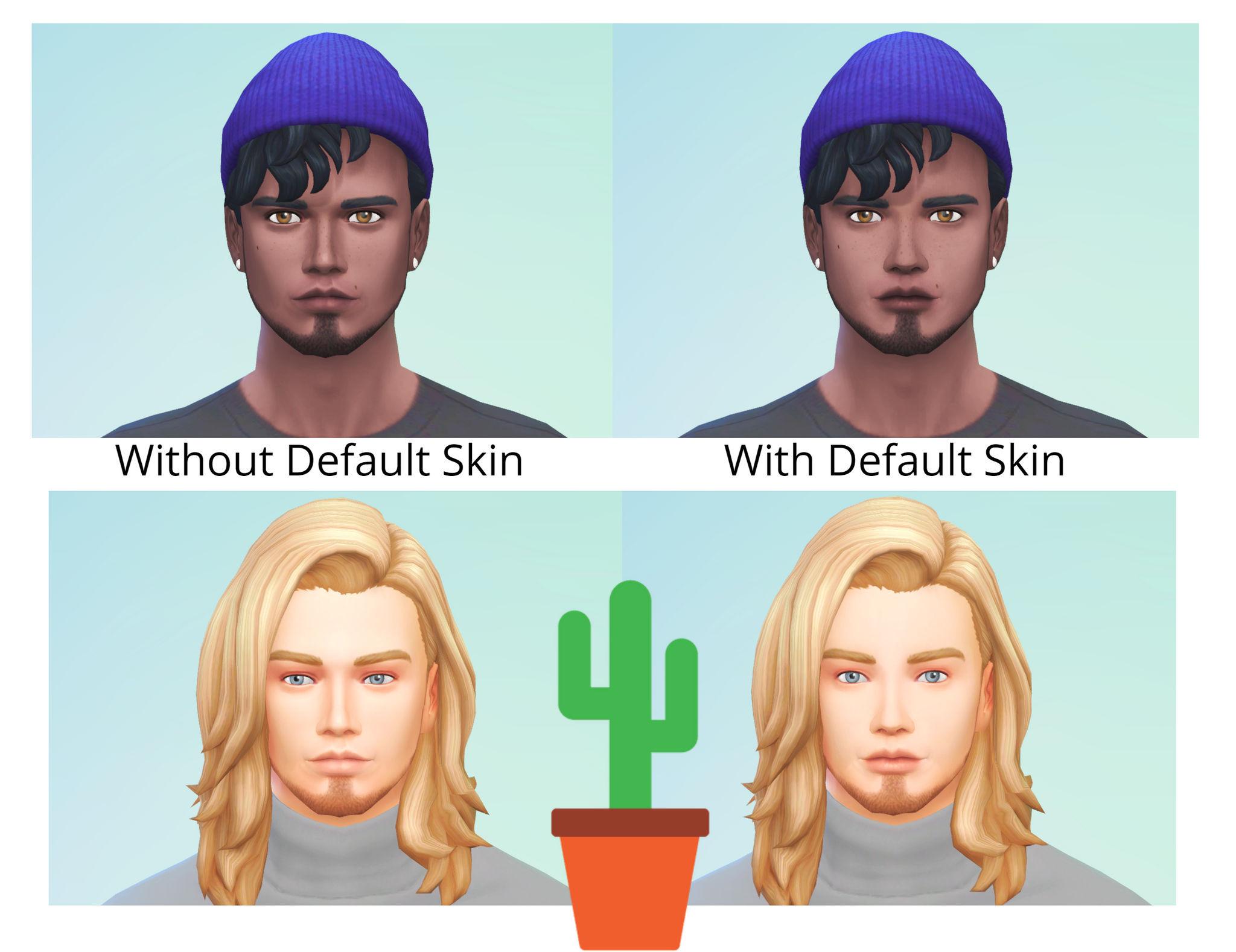 Default Skin Sims 4 | Toffee Art