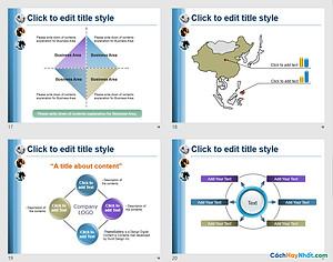PowerPoint Template 437TGp_bizpeople_light_ani Free