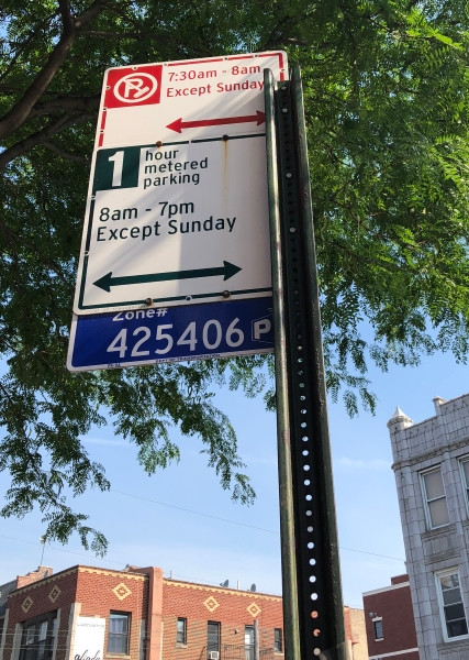 Street Parking sign
