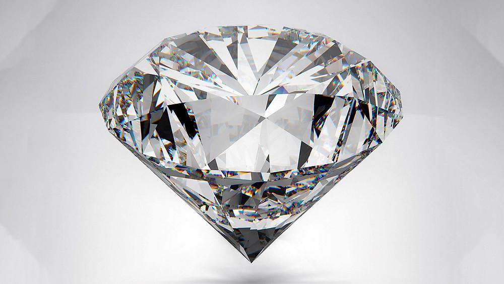 Diamante corte brillante.