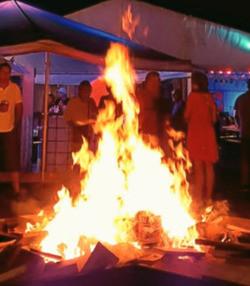 Feuer outdoor Weihnachten 2020 Corona Sivex