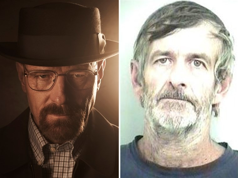 Left: Walter White in Breaking Bad, Right: Walter White of Alabama
