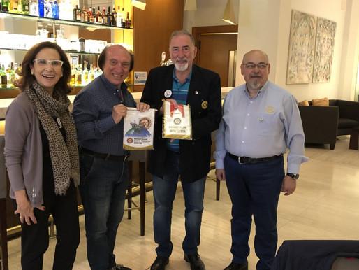 Incontro a Buenos Aires col presidente del Club di Santa Teresitas e il governatore del Distretto