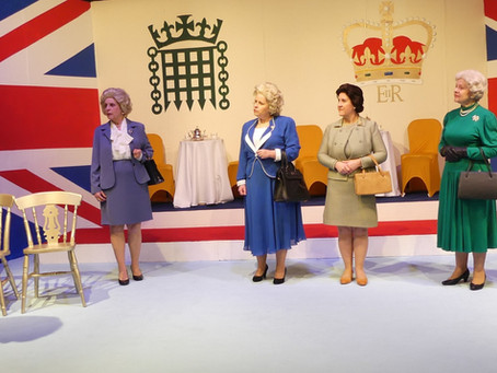 Handbagged by Moira Buffini at the Caxton Theatre Grimsby 04 March 2020.