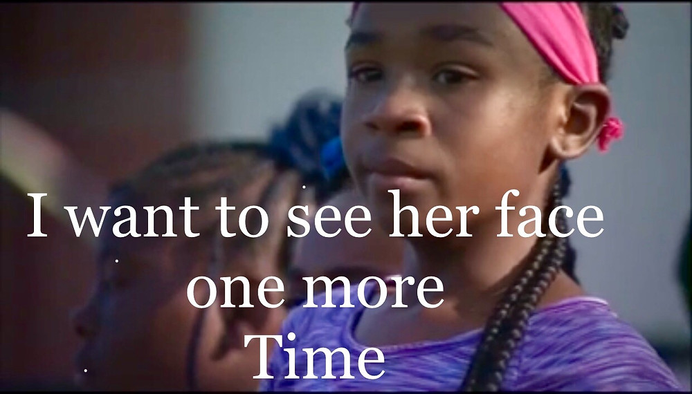 10 year old girl Christmas Wish is to see her mom face one more time after her mom was murdered in a tripple homicide.  Put down the guns and stop the violence.  Children are affected by these senseless acts of violence.
