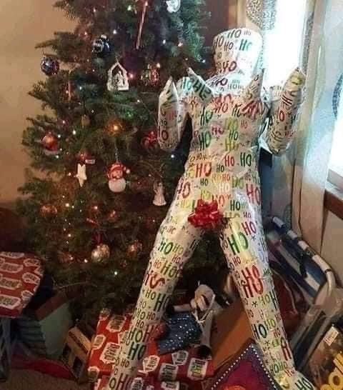 Christmas Blow Up Doll Wrapped