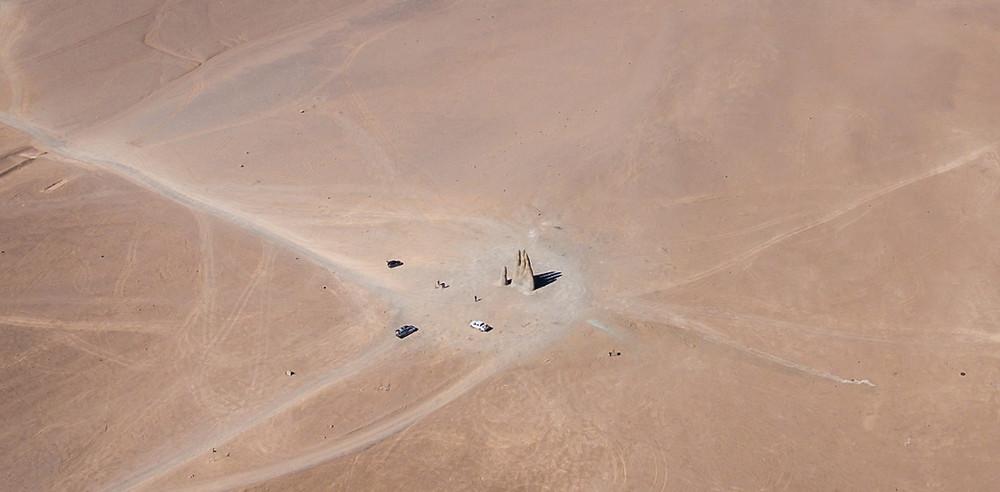 Main du désert d'Atacama vue du ciel
