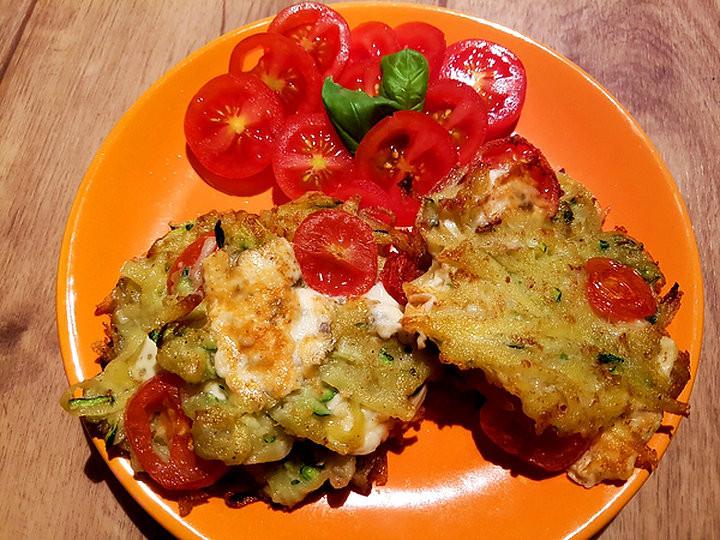 Cuketové bramboráky na zdravý způsob recept