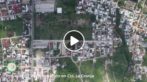 Proyecto de pavimentación de la calle principal de Col. La Granja.