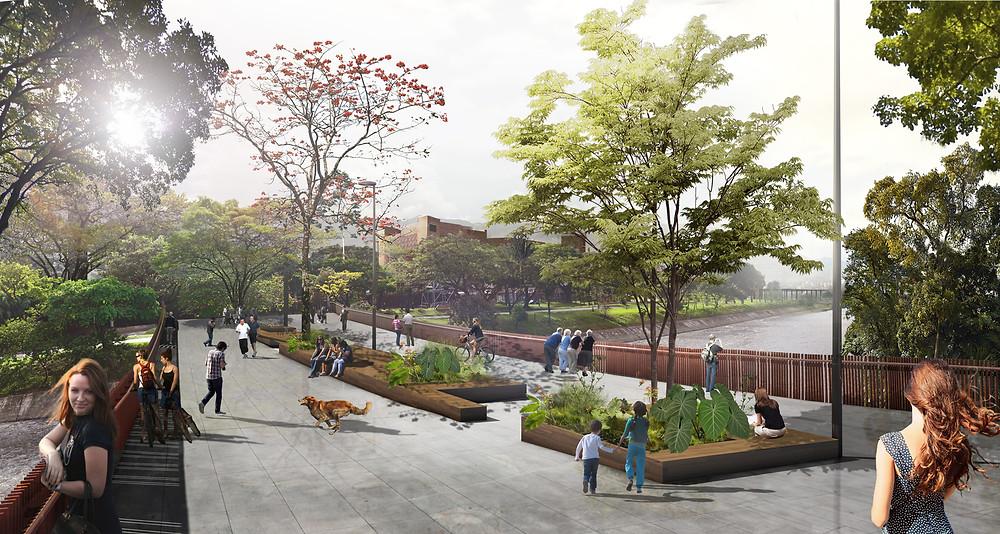 Sebastian Monsalve + Juan David Hoyos - Medellin Nehir Parkları / Botanik Parkı Master Planı, Medellin, Kolombiya