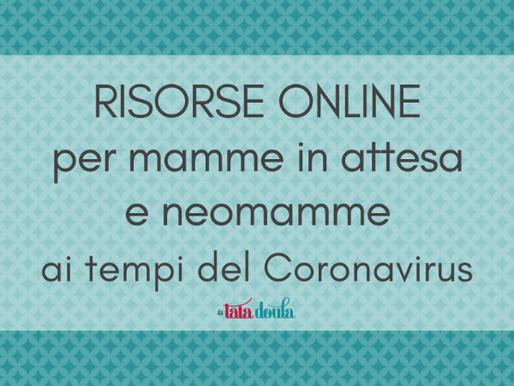 Risorse online per mamme in attesa e neomamme