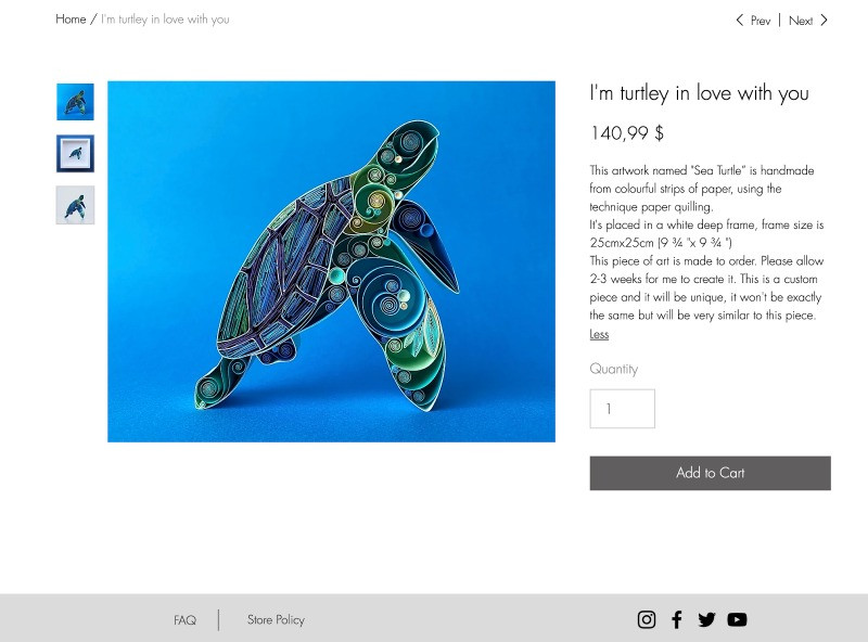 Sena Runa I'm turtley in love with you product page