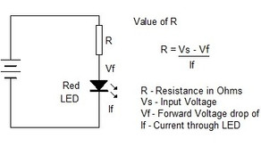 LED's Resistor Calculation