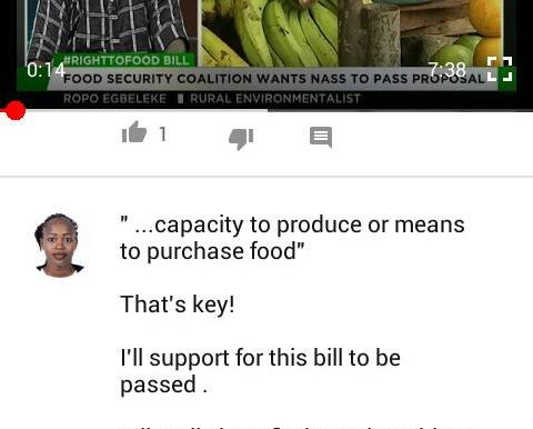 More on citizens reaction to the right to food bill