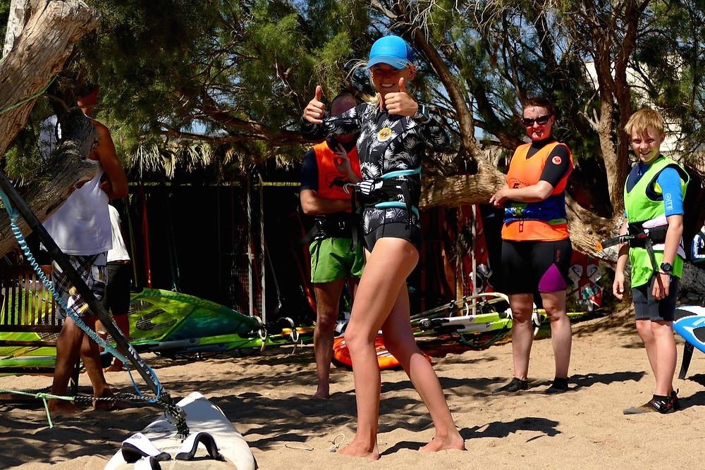 Get windsurfing coaching in Crete