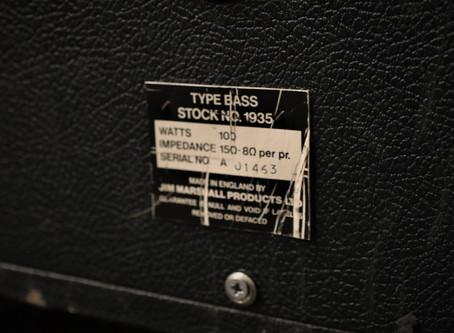 Begagnad Marshall 1935A Checkerboard från 1972 med 4 stycken Celestion G12M-25 55Hz (T1511) 19999:-