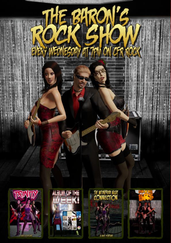 The Baron's Rock Show promo for Crossfire Radio