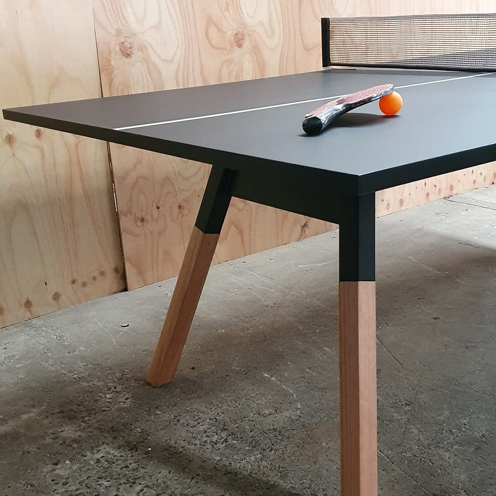 Custom ping pong table. Designed and manufactured by Artifex Australia.