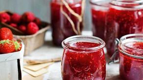 Zdravá domácí jahodová marmeláda