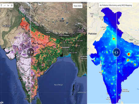 A web platform for assessing COVID-19 impact on Crop Harvesting and Air Pollution