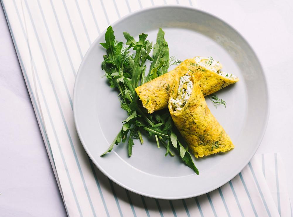 Omleto suktinukai su žalumynais, VMG receptai