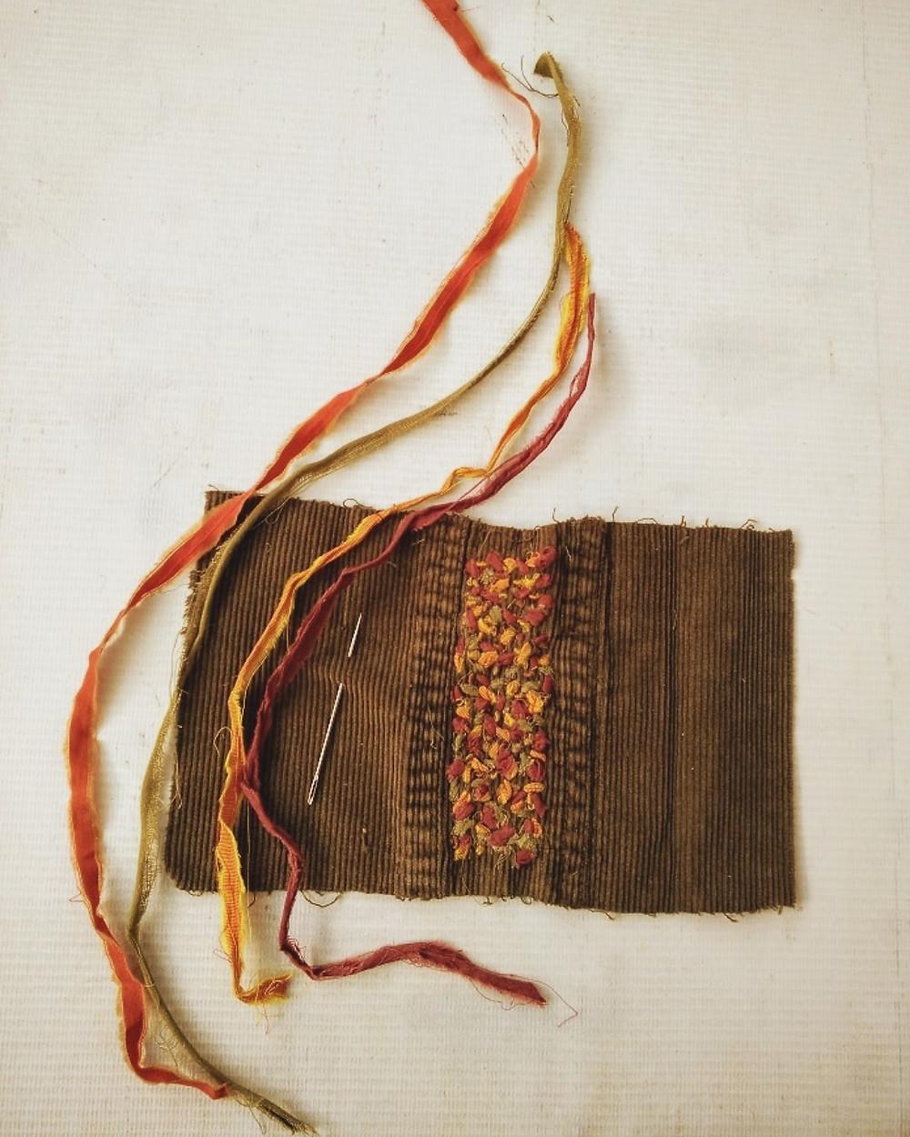 Threads from scrap fabrics